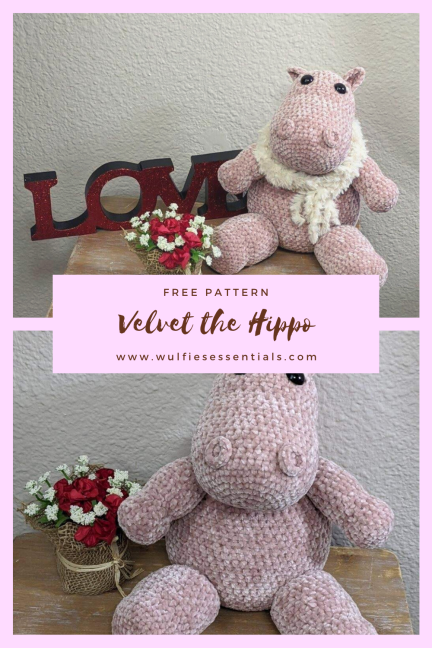 Velvet the Hippo Free Pattern
